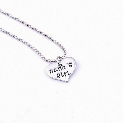 Nana's Girl Keychain Set Necklace and Keychain Grandma Gifts