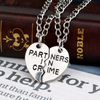 Image of Partners in Crime Pendant Necklace - 2x20'' Chain + 2 Necklace Pendants