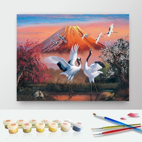 DIY Paint by Numbers Canvas Painting Kit for Kids & Adults - White Storks