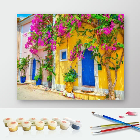 DIY Paint by Numbers Canvas Painting Kit for Kids & Adults - Blue Door