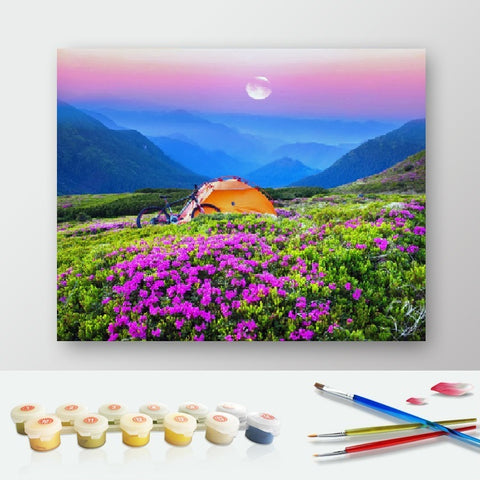 DIY Paint by Numbers Canvas Painting Kit for Kids & Adults -Pink Sunset