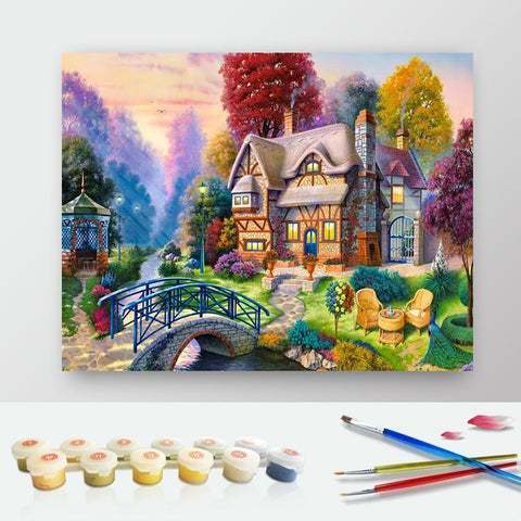 DIY Paint by Numbers Canvas Painting Kit for Kids & Adults - Winter Night