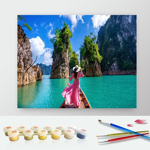 DIY Paint by Numbers Canvas Painting Kit for Kids & Adults - Girl in Thailand
