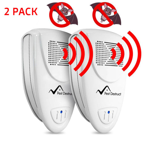 Ultrasonic Bat Repellent PACK of 2 - Get Rid Of Bats In 72 Hours Or It's FREE