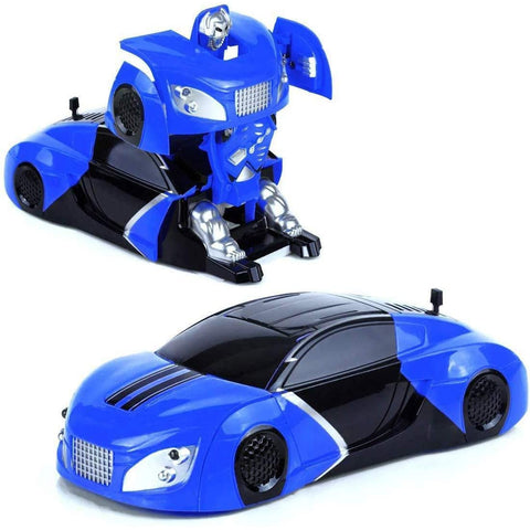 Remote Control Car Transformer 360 Degree Rotating Blue