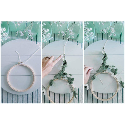 12 Pieces Embroidery Hoops Set Bamboo 6 inch
