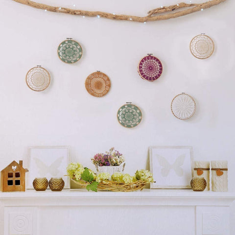 12 Pieces Embroidery Hoops Set Bamboo 4 inch