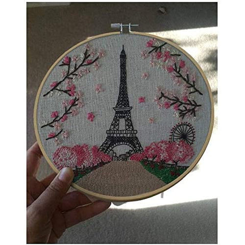 Embroidery Starter Kit with Pattern Eiffel Tower