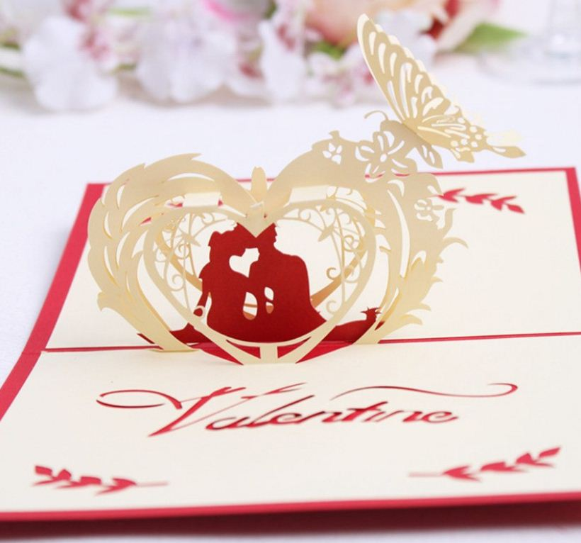 3d love pop up card and envelope valentine s day couple i love you