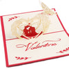Image of 3D Love Pop Up Card and Envelope - Valentine's Day Couple I Love You Heart Card