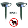 Image of Dog Outdoor Ultrasonic Repeller - PACK of 2 - Solar Powered Ultrasonic Animal & Pest Repellant