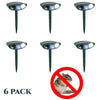Image of Ultrasonic Chipmunk Repeller - PACK of 6 - Solar Powered - Get Rid of Chipmunks in 48 Hours or It's FREE - CA