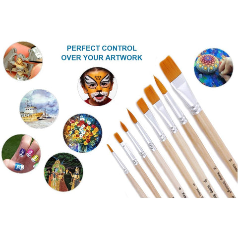 Broad Paint Brushes Set 8pcs