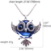 Image of Owl Pendant Necklace for Women - Blue Crystal Pendant Necklace - Fashion Jewelry - 27.5''