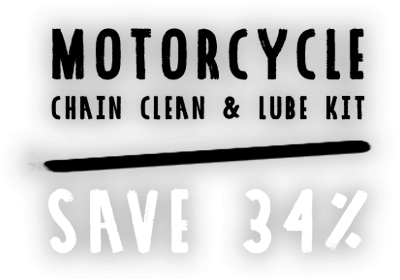 Motorcycle Chain Clean and Lube Kit