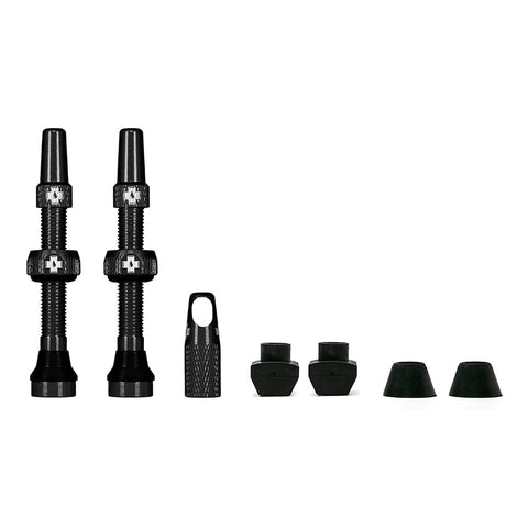 Black Tubeless Presta Valve (Pair)