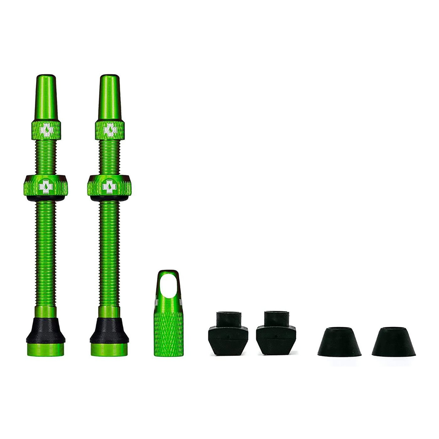 Green Tubeless Presta Valve (Pair)