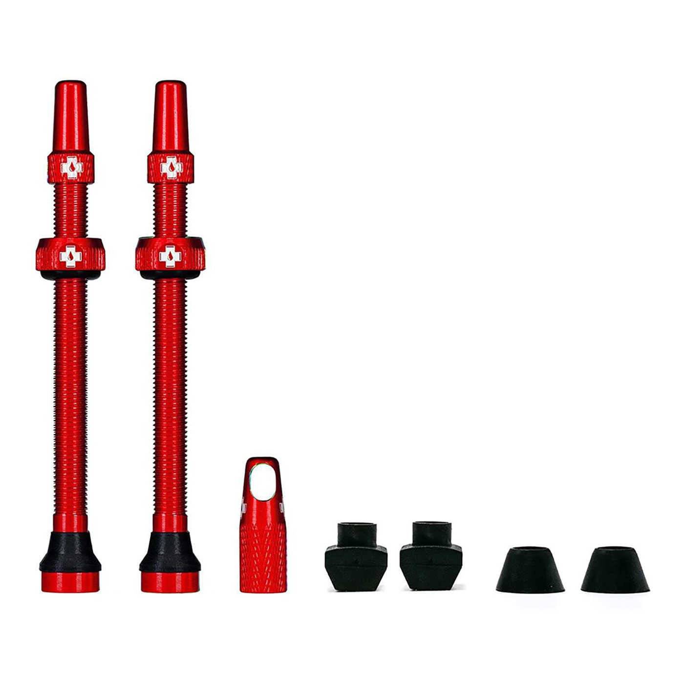 Red Tubeless Presta Valve (Pair)