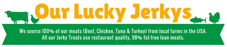 Our Lucky Premium Treat Jerky: Beef, Chicken, Tuna & Turkey
