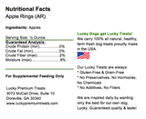 Lucky Premium Treats Apple Rings Dog Treats, Nutrition Label