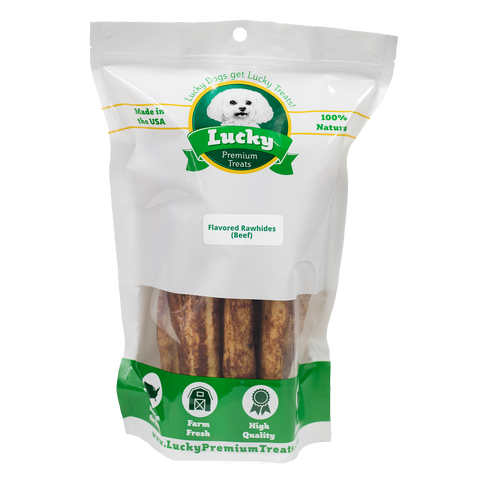 Beef Basted Rawhide Dog Treats Retrievers for Large Dogs