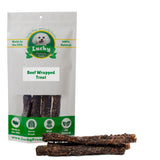 Beef Wrapped Rawhide Dog Treats Retrievers for Large Dogs 6 Count