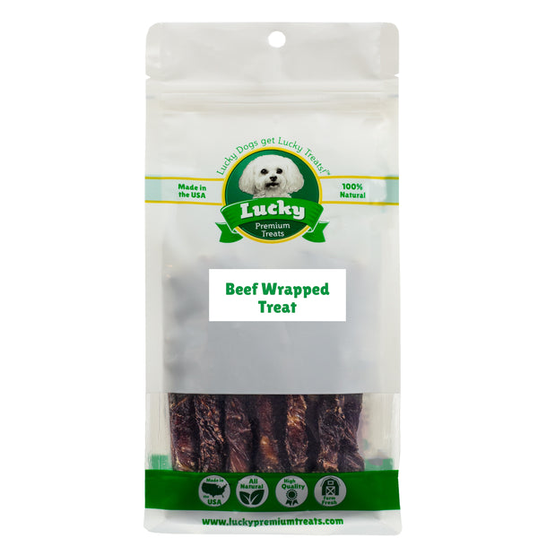 Beef Wrapped Rawhide Dog Treats for Small Dogs 25 Count