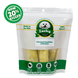 NOW 20% BIGGER! Chicken Basted Rawhide Treats for Medium / Large Dogs