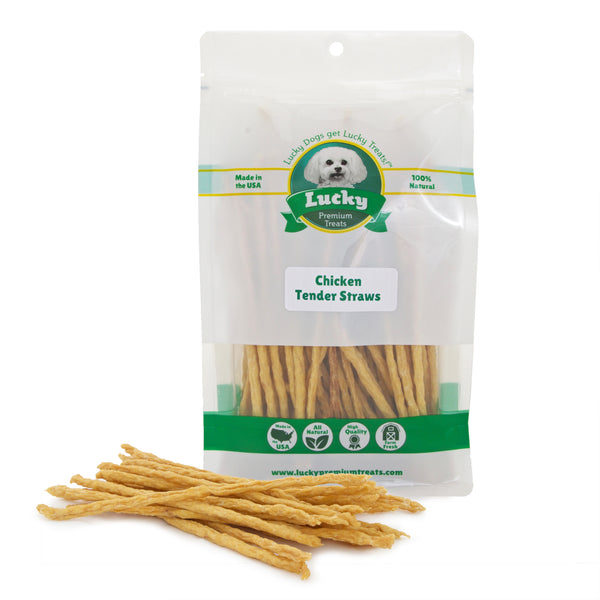 Chicken Tender Straws For Senior Dogs & Puppies - 16 oz. Bag