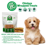 Chicken Wrapped Rawhide Dog Treats Stubby's for Medium / Large Dogs