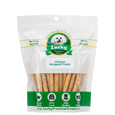 Chicken Wrapped Rawhide Dog Treats for Small Dogs