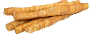Chicken Wrapped Rawhide Treats Retriever Size for Large Dogs - Buy 12 Get 3 FREE! (15 Total Treats!)