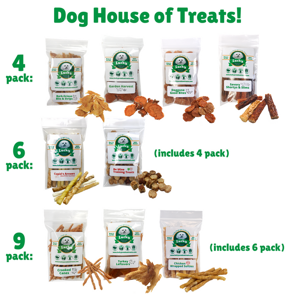 Lucky Premium Treats Gift Basket - Dog House of Small Treats (what's inside)