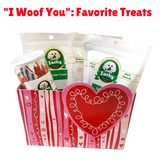 Lucky Premium Treats Gift Basket - I Woof You: Favorite Treats Variety