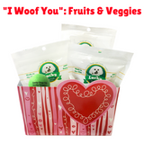 Lucky Premium Treats Gift Basket - I Woof You: Fruits & Veggies