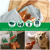 Lucky Premium Treats Dog Treats - Organic Chicken Jerky Fillets, Collage