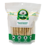 Lucky Premium Treats Peanut Butter Flavored Rawhide Dog Treats for Small Dogs, Bag