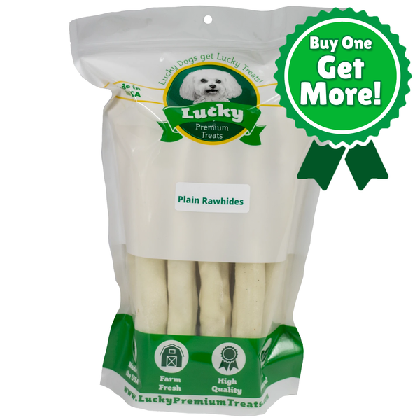 Plain Rawhide Retrievers for Large Dogs - Buy 20 Get 5 Free