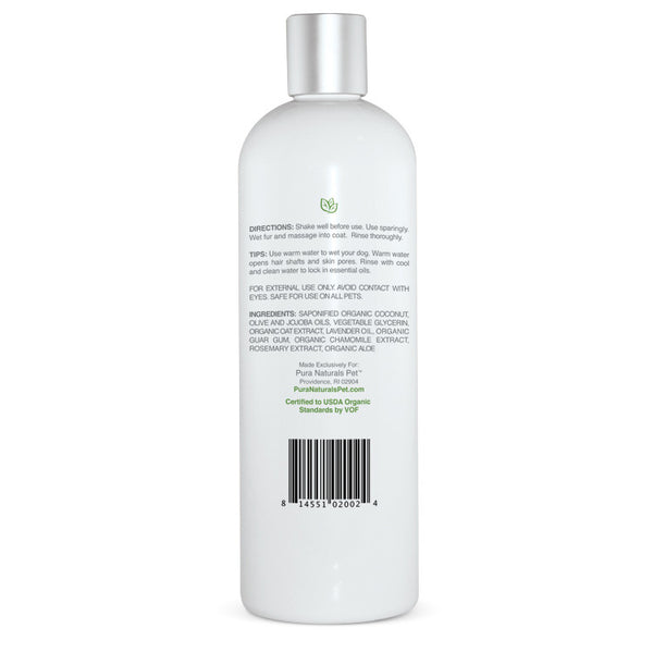 Pet Shampoo, Organic Lavender & Chamomile, Soothes