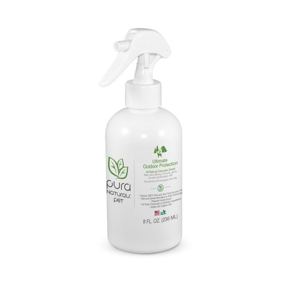 Organic Outdoor Bug Repellent for Dogs Pets, 8 oz.