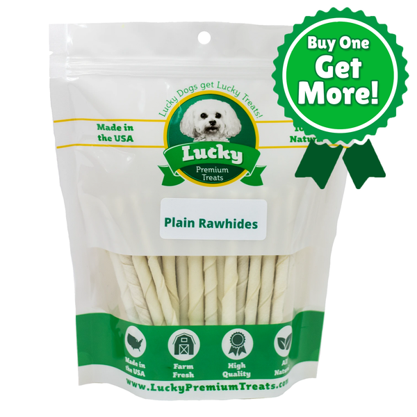 Plain Rawhide For Small Dogs - Buy 145 Get 35 Free