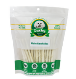 Rawhide Dog Treats for Small Dogs, Plain