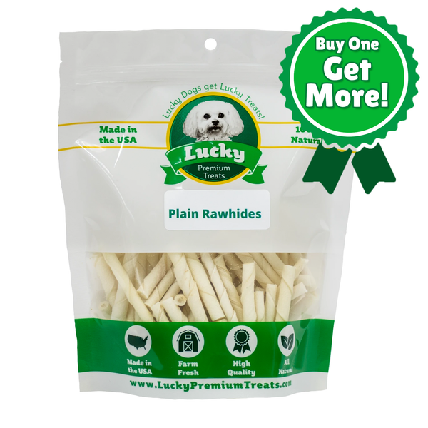 Plain Rawhide Toy Size for Small Dogs - Buy 290 Get 70 Free