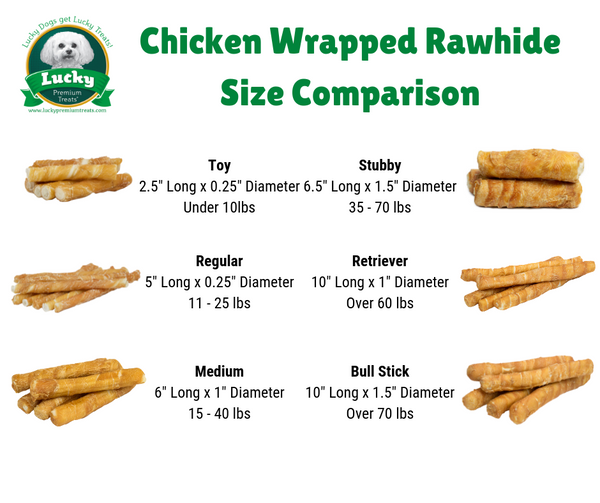 Chicken Wrapped Rawhide Dog Treats Retrievers for Large Dogs