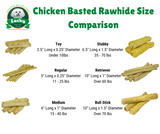 Chicken Basted Rawhide Dog Treats for Medium Dogs