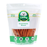 Lucky Premium Treats Sweet Potato Straws Dog Treats, Bag