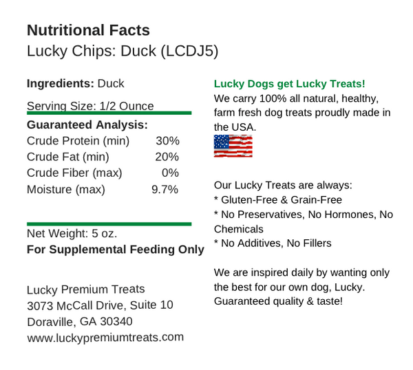 Lucky Chips Duck Jerky