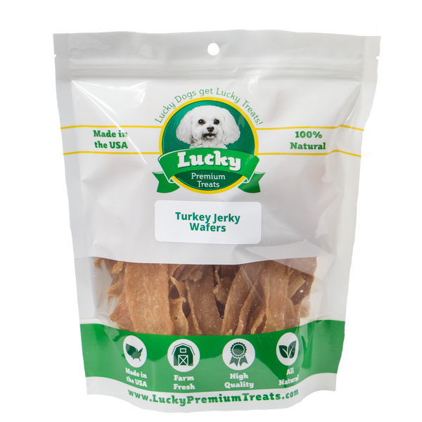 Lucky Premium Treats Turkey Jerky Wafers, Bag