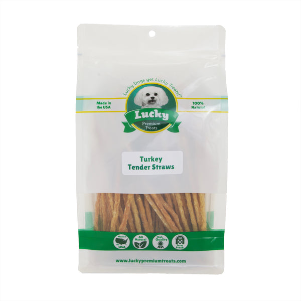 Turkey Tender Straws For Senior Dogs & Puppies - 16 oz Bag