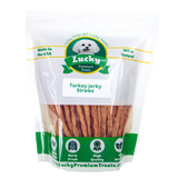 Lucky Premium Treats - Turkey Jerky Straws for Dogs, bag